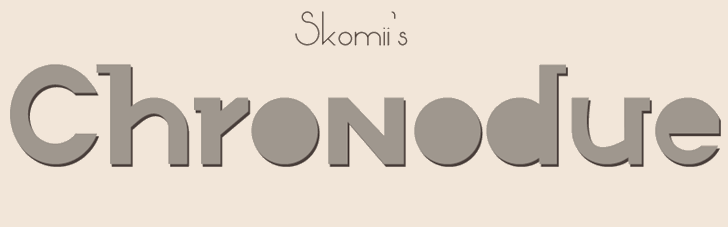 Chronodue font by Paulo R