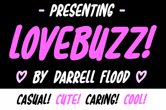 Lovebuzz font by Darrell Flood