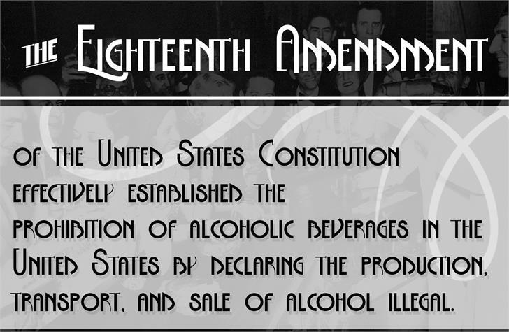 The Eighteenth Amendment Bold font by Julia Holdnack