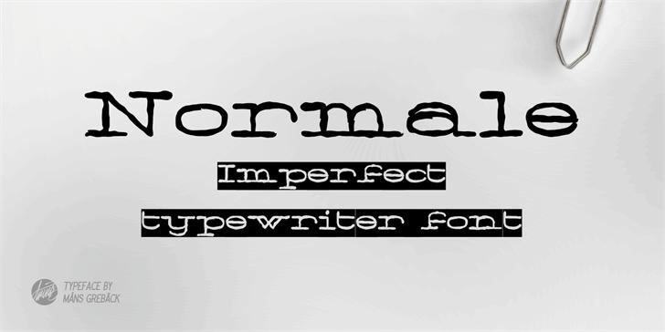 Normale Personal Use font by Måns Grebäck