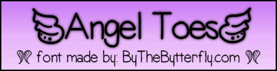 AngelToes font by ByTheButterfly