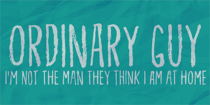 Ordinary Guy DEMO font by pizzadude.dk