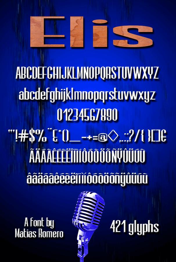 Elis font by Matias Romero