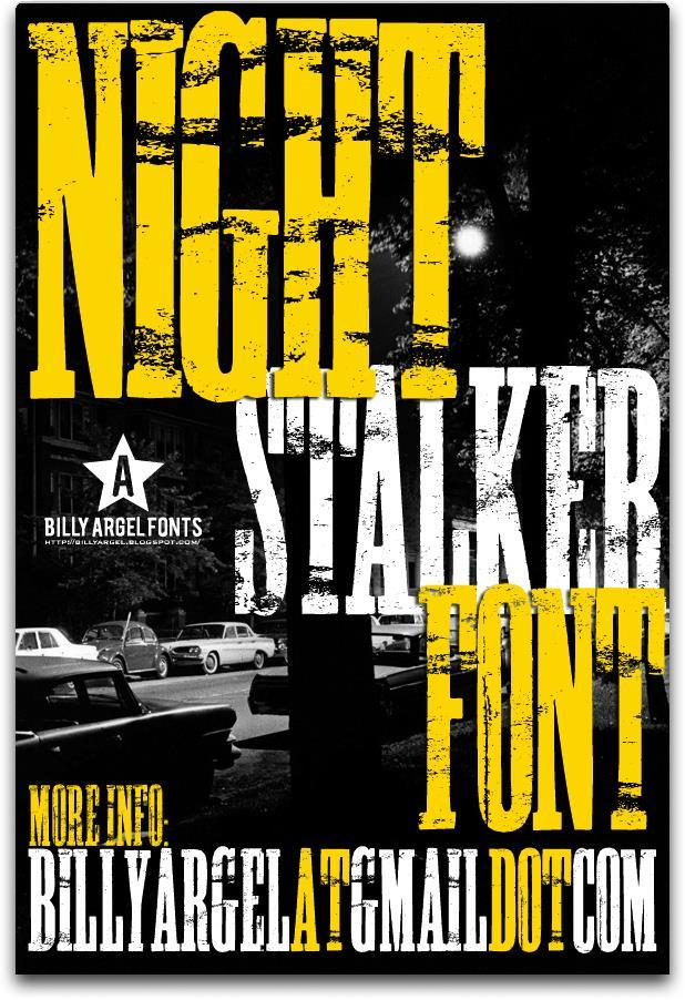 NIGHT STALKER font by Billy Argel