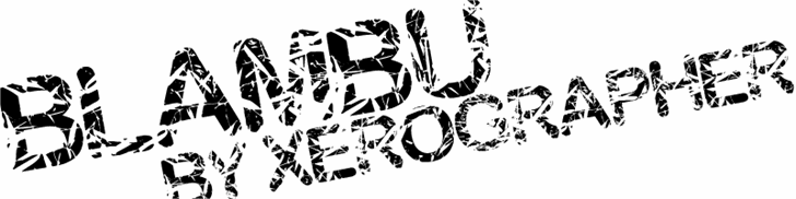 blambu font by Xerographer Fonts