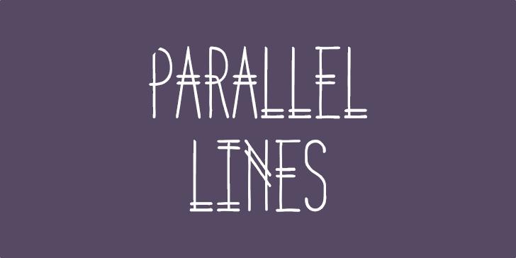 Parallel Lines font by Lauren Ashpole