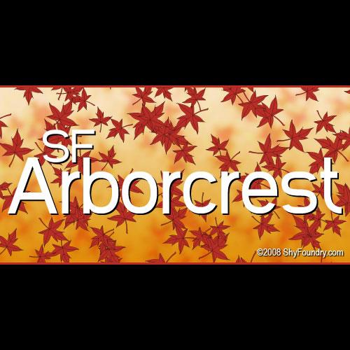 SF Arborcrest Medium font by ShyFoundry