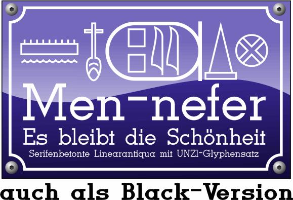 Men Nefer font by Peter Wiegel