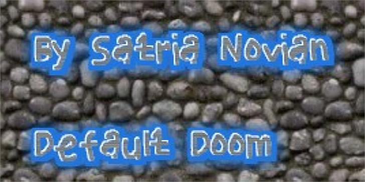 Default Doom font by elemental acts