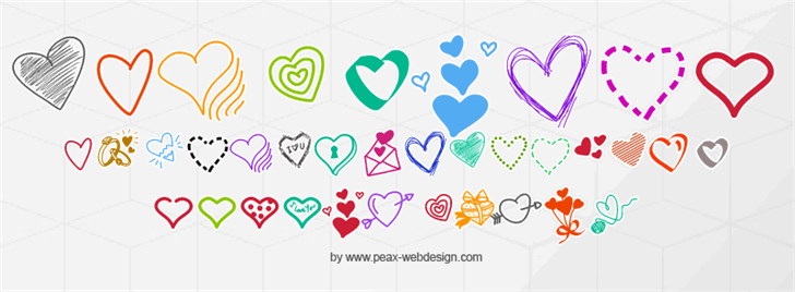 PWLittleHearts font by Peax Webdesign