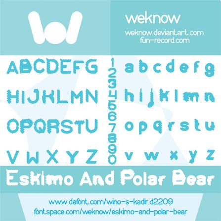 Eskimo and Polar Bear font by weknow