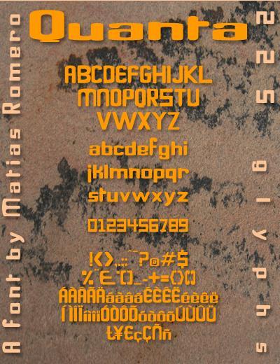 Quanta font by Matias Romero