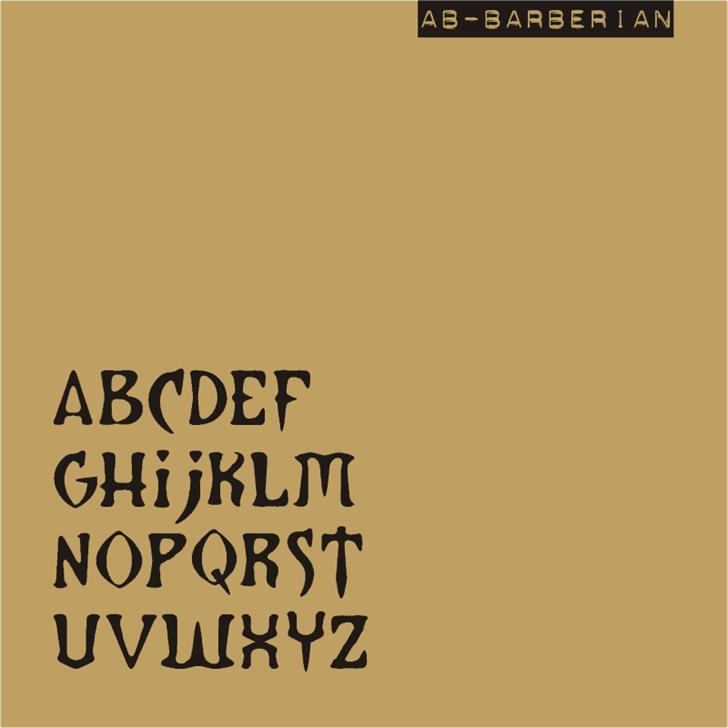 AB Barberian font by redFONTS
