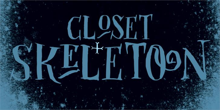DK Closet Skeleton font by David Kerkhoff