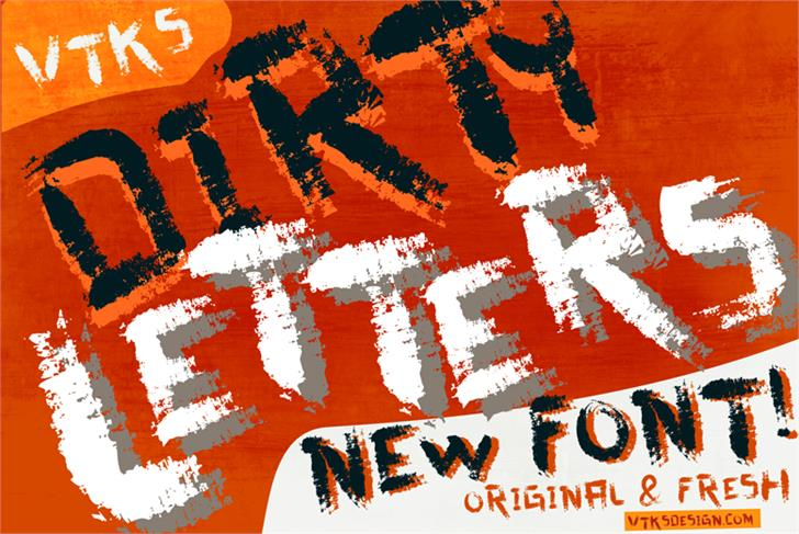 vtks dirty letters font by VTKS DESIGN