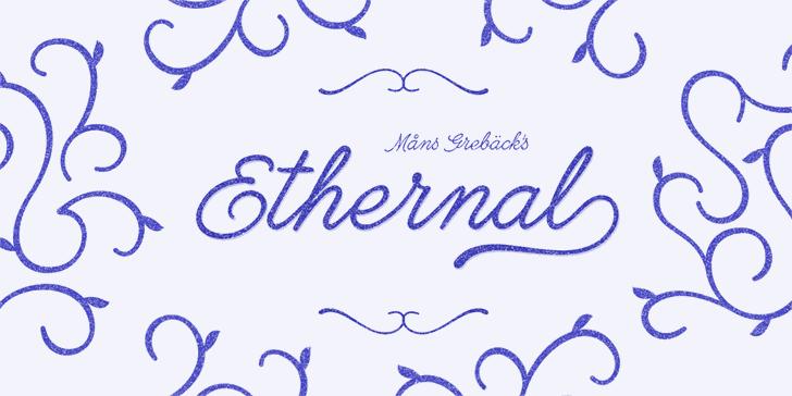 Ethernal Bold PERSONAL USE font by Måns Grebäck
