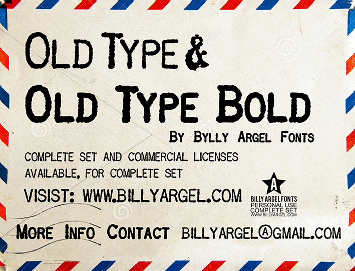 OLD TYPE PERSONAL USE font by Billy Argel