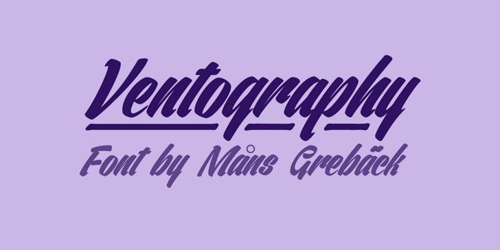 Ventography Personal Use Only font by Måns Grebäck