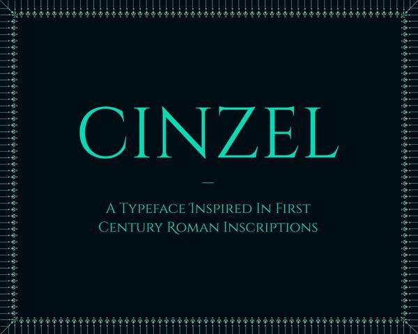 Cinzel font by Natanael Gama