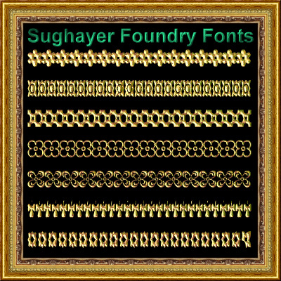 Vintage Borders_018 font by Sughayer Foundry