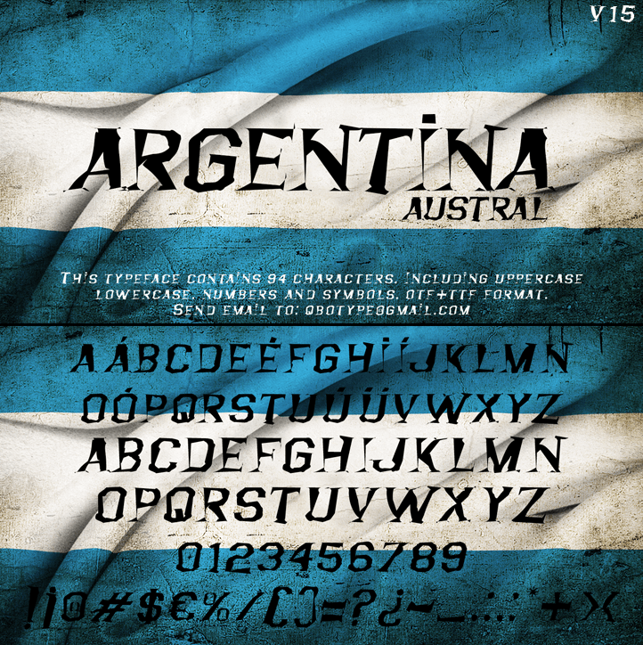 Argentina Austral font by Qbotype Fonts