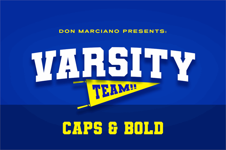 Varsity Team font by DonMarciano