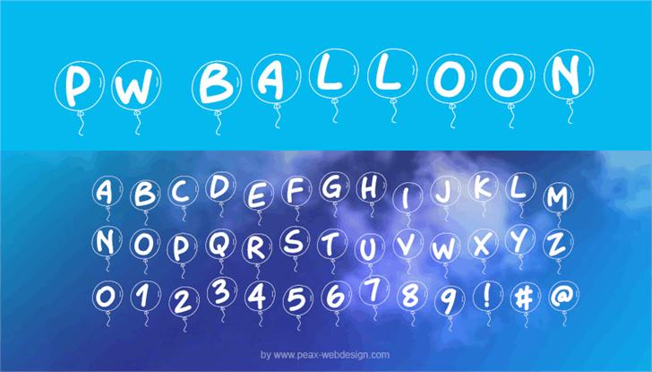 PWBalloon font by Peax Webdesign