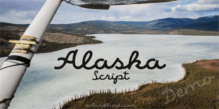 Alaska Script Demo font by Roland Huse Design