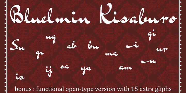 Bluelmin Kisaburo font by Intellecta Design