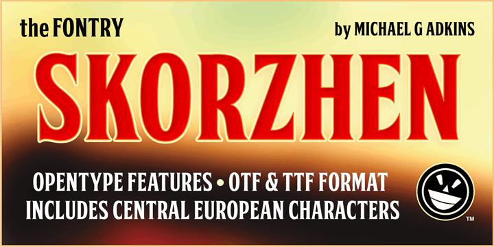 FTY SKORZHEN NCV font by the Fontry