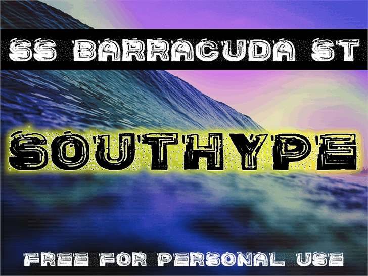 SS Barracuda St font by Southype