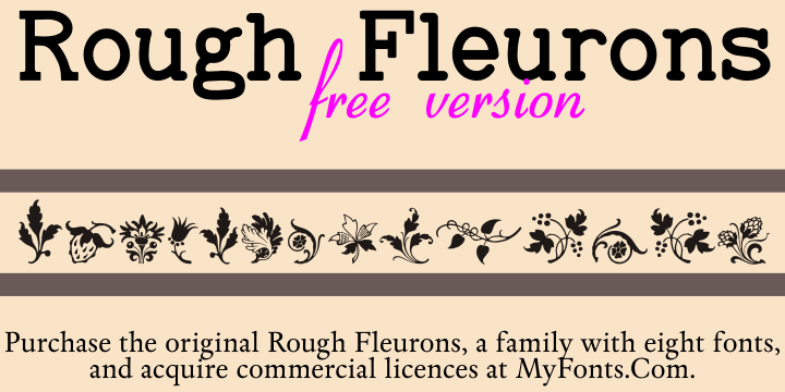 Rough Fleurons Free font by Intellecta Design