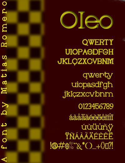Oleo font by Matias Romero