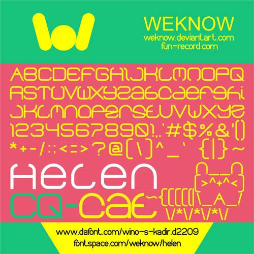 helen font by weknow