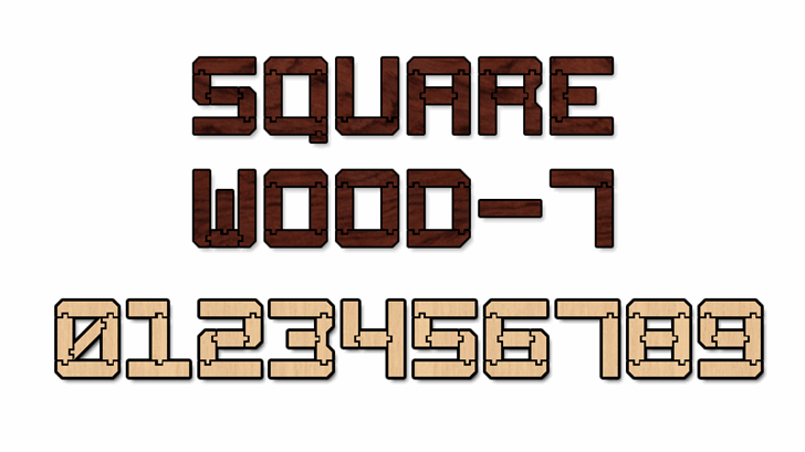 Square Wood-7 font by Style-7