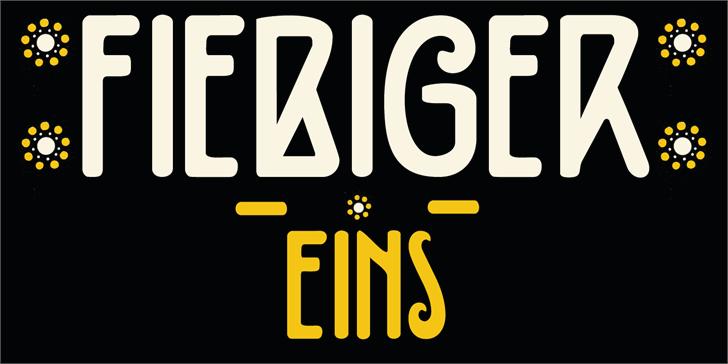DK Fiebiger Eins font by David Kerkhoff