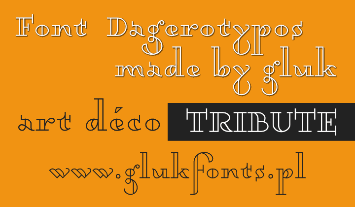 Dagerotypos font by gluk