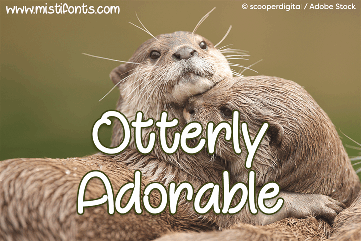 Otterly Adorable font by Misti's Fonts