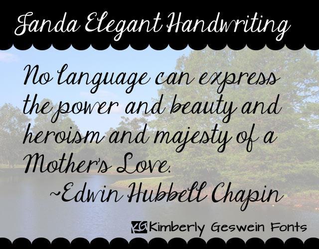 Janda Elegant Handwriting font by Kimberly Geswein