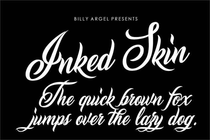 Inked Skin Personal Use font by Billy Argel