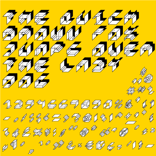 Paper Cube font by pistocasero