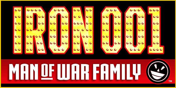 IRON MAN OF WAR font by the Fontry
