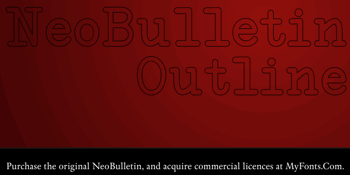 NeoBulletin Outline font by Intellecta Design