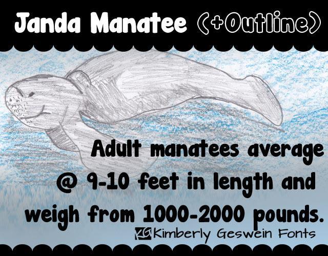 Janda Manatee font by Kimberly Geswein