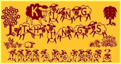 Kingthings Sheepishly font by Kingthings