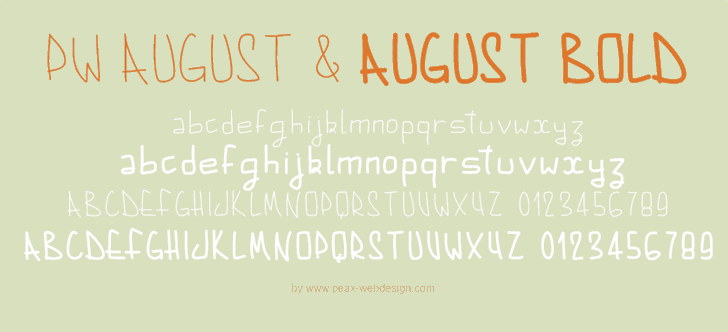 PWAugust font by Peax Webdesign