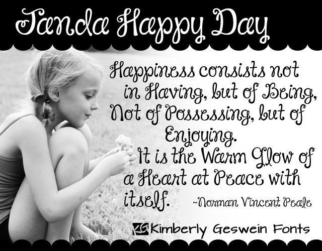Janda Happy Day font by Kimberly Geswein