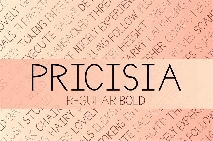 Pricisia font by DefayDesigns