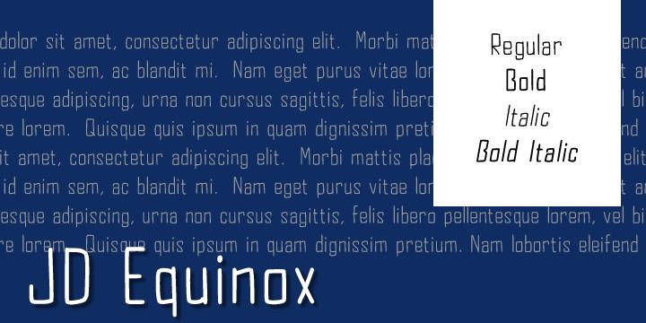 JD Equinox font by Jecko Development