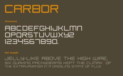 Carbor font by Marc Clancy